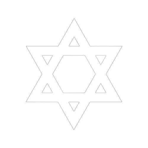 Wandtattoo Logo Kreuz jüdische selbstklebend-mehrere Farben erhältlich-10 schwarz (Jüdische Kreuz)