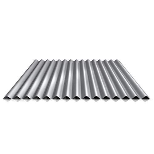 Wellblech   Profilblech   Wandblech   Profil PA18/1064CW   Material Aluminium   Stärke 0,70 mm   Beschichtung 25 µm   Farbe Weißaluminium