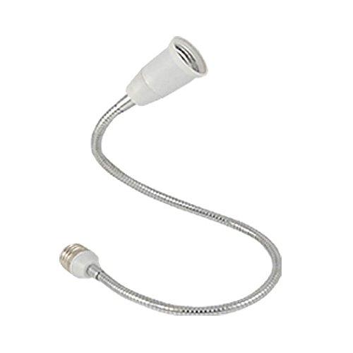 Preisvergleich Produktbild Erweiterung Konverter - TOOGOO(R)E27 bis E27 Licht Lampe flexible Verlaengerung Adapter-Konverter (weiss, 60 cm)