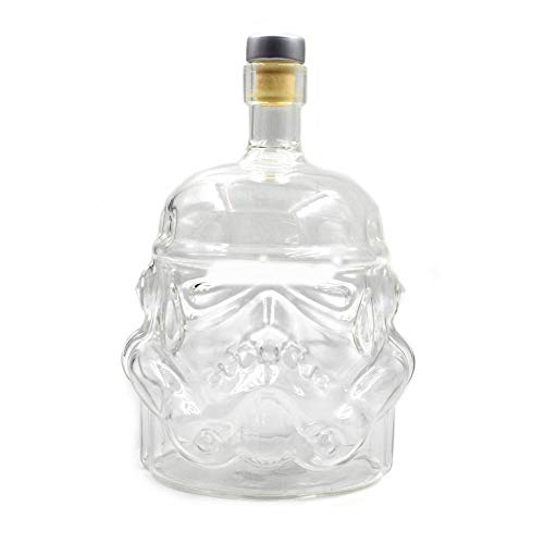 Migvela Transparent Creative Whiskey Flask Decanter Stormtrooper Glass Bottle Wine Decanters Glass Cup