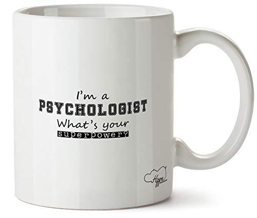 Hippowarehouse I'm a Psychologist What's Your Superpower? taza impresa taza de cerámica 10 oz