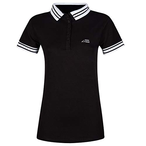 Equiline Damen Polo Shirt LILLAC FS18 Farbe Reitbekleidung schwarz, Kleidergrößen S