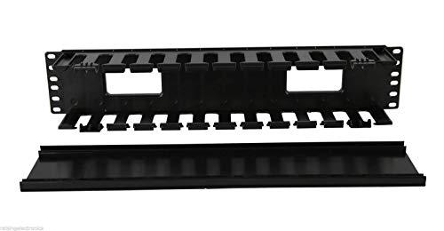 48,3cm 2U Rack Mount Kabel Management Unit 12Slots mit Panel Kunststoff