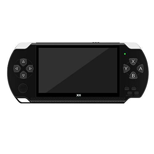 Moligh doll X6 4,3 Zoll Hand Spiel Konsolen Spieler 10000 Spiele 32 Bit 8 GB UnterstüTzung für PSP Spiele / Videos / E-Books (Schwarz)