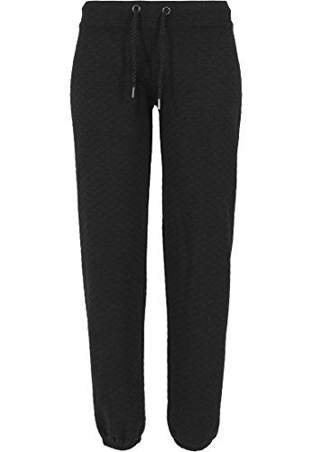 Urban Classics - Pullover Quilt Jogging Pants, Felpa Donna, Nero (Schwarz), Large (Taglia Produttore: Large)