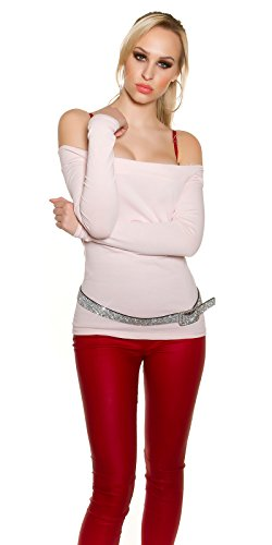 In-Stylefashion - Sweat-shirt - Femme rose Rosa taille unique Rose