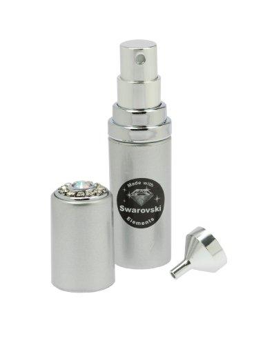 Fantasia Vaporisateur de poche 6 ml Or Swarovski Elements Hauteur : 9,5 cm avec entonnoir dans coffret cadeau Argenté