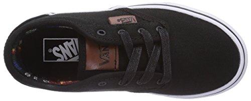 Vans ATWOOD, Unisex-Kinder Sneakers Schwarz ((Canvas) black/ F8H)