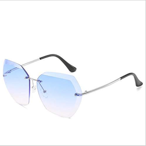 Delilya Damen-Sonnenbrille, Klassische übergroße polarisierte Sonnenbrille für Damen Retro Ladies Eyewear 100% UV400 Acetat,Blue