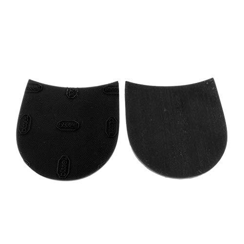 kesoto 1 Paio Colla di Gomma Antiscivolo per Protezione della Suola di Scarpe con Tacchi Alti/Scarpe Sportive 8,5x8,5cm - Nero, come descritto