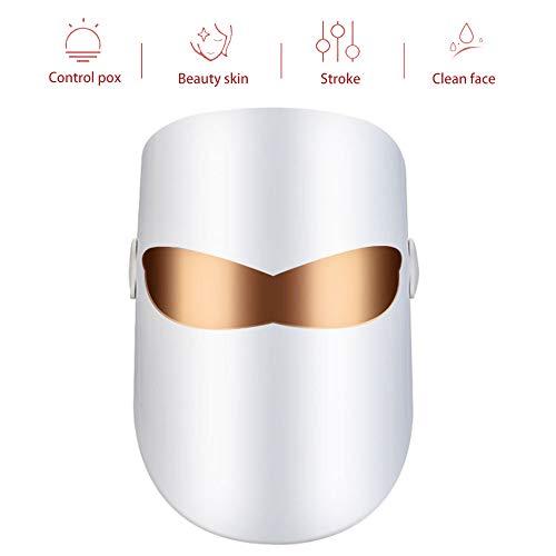 Reduzieren Sie Falten 3 Farben LED-Gesichtsmaske, LED-Photonentherapie-Behandlung Beauty Skin Care Phototherapie-Maske - USB-Gesichtspflege-Behandlung -