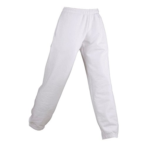 JAMES & NICHOLSON Pantalon jogging non déformable Blanc