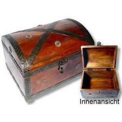 Brynnberg scrigno del tesoro vintage bauletto stile antico per accessori gioielli oggetti di valore, cassaforte in legno, idea regalo decorativa