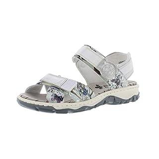 Rieker 68853 Women Trekking Sandals,Outdoor Sandals,Sports Sandals,Summer Shoe,offwhite-metallic/ice/90,41 EU / 7.5 UK