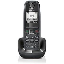 Gigaset AS405 - Teléfono inalámbrico (GAP, DECT, CLIP, 100 contactos) color negro