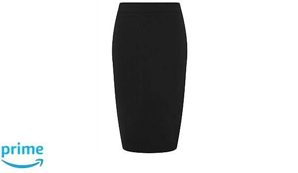 547db884c1 Collectif Clothing Polly Plain Bengaline Pencil Skirt Black: Amazon.co.uk:  Clothing
