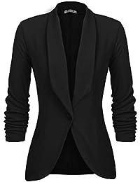 28420711b471 UNibelle Femme Veste Blazer Veste De Costume Courte Casual Slim Un Bouton  Noir Kaki