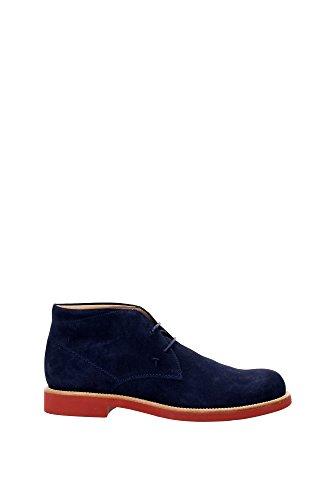 XXM0WP00D80RE0U820 Tod's Chaussure montante Homme Chamois Bleu Bleu