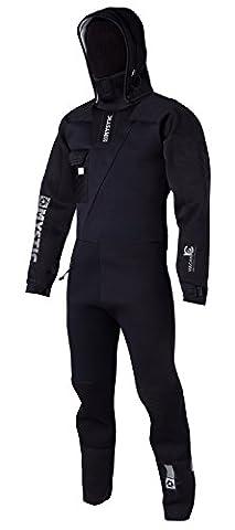 Mystic Vulcanic 4mm Neoprene Front Zip Drysuit BLACK + UNDERFLEECE Sizes- - ExtraLarge