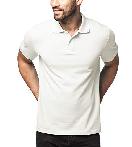 LAPASA Herren 100{30d67428d77e9df2faf2e3608e18e4cc6efa70942911e8963e3b1743394d695c} Baumwolle Polo Pique Polo Shirt Kurzarm mit Polokragen MEHRWEG M019 (XXL (letzter Abbildung zufolge), Weiß (neu))