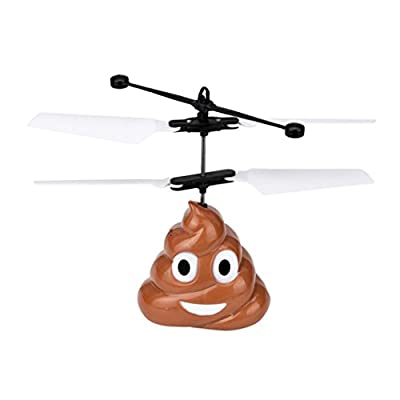 Clearance/BESTOPPEN Mini RC Flying Cartoon Poop Aircraft Helicopter, Remote Contral Drone Plane Transmitter Robot Kits Infrared Sensing Induction Flying Toys Gift for Kids,Childrens