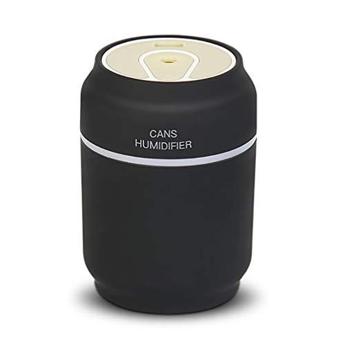 ZUZEN Auto Luftbefeuchter Luftreiniger USB DREI-in-einem Auto nach Hause Mini Dosen Lufterfrischer Portable Mute verwendet, um Gerüche Staub aus zweiter Hand Rauch zu beseitigen,Black