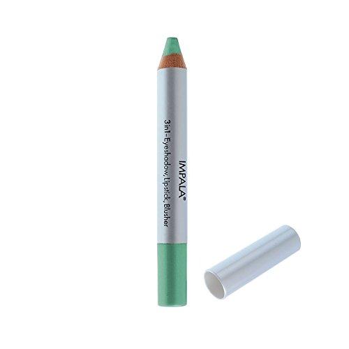 Impala Crayon Exclusif Jumbo 3 en 1 N14 Turquoise Yeux Lèvres Fard Tenue Longue