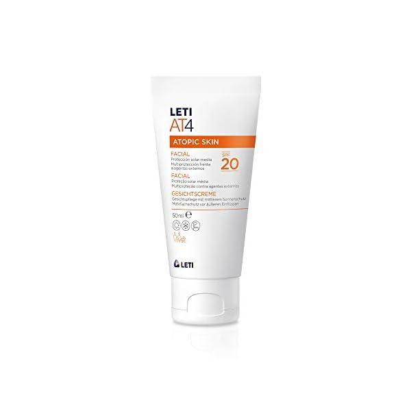 Leti AT4 Cuidado de protección múltiple con protección solar media (SPF 20)  –  50 ml