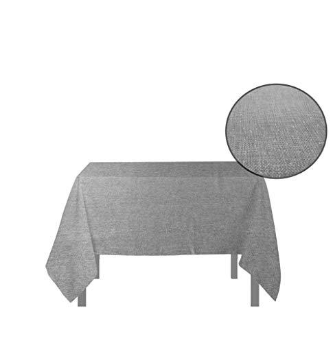 Soleil d'ocre Bella Nappe Carrée, anti-tâches, Polyester, Gris, 180x180 cm