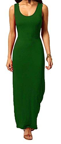 Generic - Robe - Uni - Sans Manche - Femme * taille unique vert bouteille