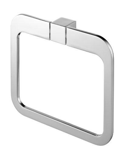 Bisk 02996 Futura - Toallero anillo (20 x 3 x 17,5 cm), color plateado