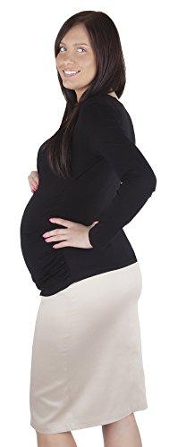 Mija - jupe élégante de grossesse et de maternité Smart Office 9014 Beige