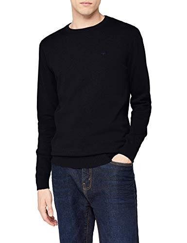 TOM TAILOR Herren 30228800910 Pullover, Blau (Knitted Navy 6800), M - Baumwolle Pullover Pullover