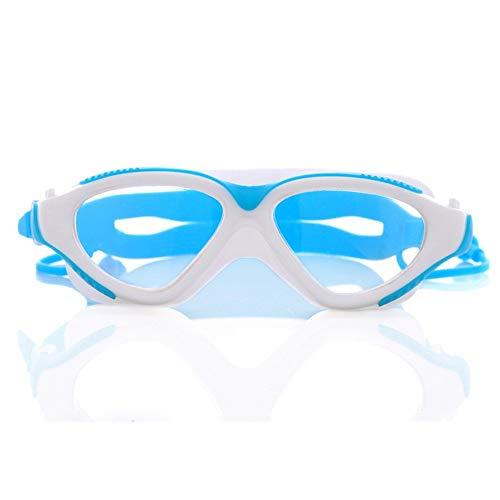 SimmiaHome Lens Mirror Clear Comfortable No Leaking Triathlon Full Free Case Headset Anti-Glare Training Competition Clear VisionWasserdichte Schutzbrille gegen Beschlagen, hellblau