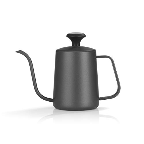 Beem Pour Over Wasserkessel mit Thermometer - 0,5 l | Classic Selection | Edelstahl | Schwarz |...