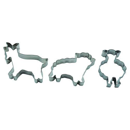 Krifka Formina Schaf stehend, Schaf, Ziege, 3er Set Ostern Ausstecher, Ausstechform