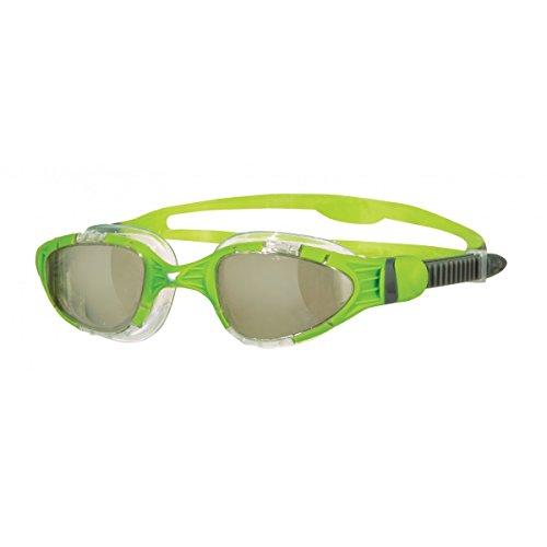 Zoggs Aqua Flex Titanium Schwimmbrille Einheitsgröße Tinted/Lime