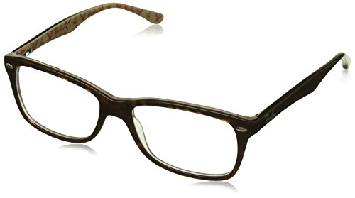 Rayban Damen Brillengestell RX5228, Braun (Top Dark Havana On Beige Text), 55