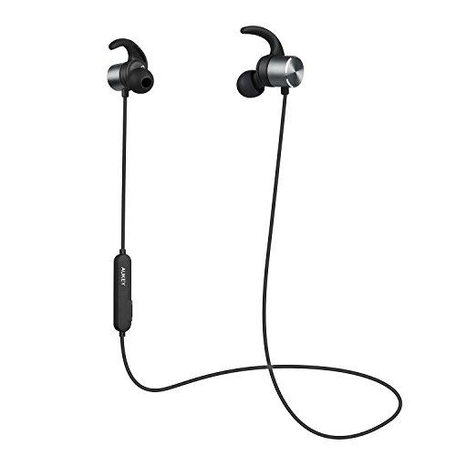AUKEY Auriculares Inalámbricos Magnéticos, Bluetooth 4.1 con aptX y Micrófono Integrado Duración 8 Horas para iPhone, Samsung y Más