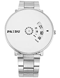 Nidhi Fashion New Arrival Special Collection Paidu Round Analogue White Dial Men's Watch | Fashion Wrist Watch...