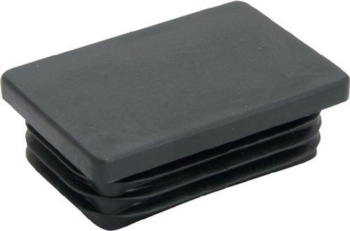 Preisvergleich Produktbild 1 Rohrstopfen für Rechteckrohr Länge 200mm Breite 40mm PE schwarz mit Lamellen VPE 1 STÜCK
