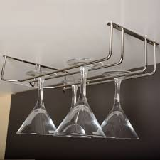 Ebco Kitchen Upside down Under Cabinet Wine Glass Holder (Double)