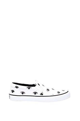 Pantofole Kenzo Uomo Tessuto Bianco e Nero M55899E16 Bianco 42EU