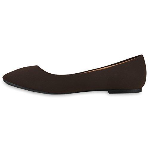 Klassische Damen Ballerinas | Glitzer Ballerina Schuhe Lack | Party Schuhe Zeitschuhe Schleifen | Basic Slipper Flats | Freizeitschuhe Hochzeit Abiball Dunkelbraun