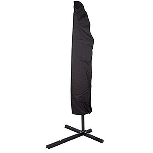 Möbelabdeckung Patio-Regenschirm-Abdeckung im Freien, Sonnenschirm Roman Umbrella, schwarzes Oxford-Tuch Staubdicht Anti-Aging-Regenschirm-Abdeckung (2 Stück) (Size : 265 ×(40-50)×70CM) -