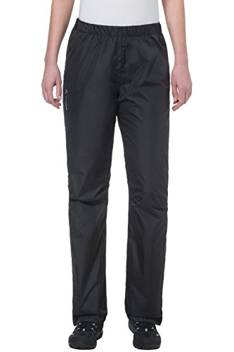VAUDE Damen Hose Fluid Full-Zip Pants, Black, 40, 01263