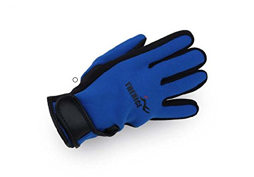 Diving, Surf, Motorcycle, Cycling Wetsuit Golves for Water Sports Surfing Diving Canoe Kayak Water-skiing Jetski Spearfishing Sailing (Blue, XL)