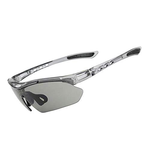 Sportbrille Damen Sportbrille Mit Wechselgläsern Reiten Brille 3 Linsen Outdoor Sportarten Uv Schutz Fahrrad Brille Winddicht Sand Myopie Hd Sonnenbrille Gray Damen Herren