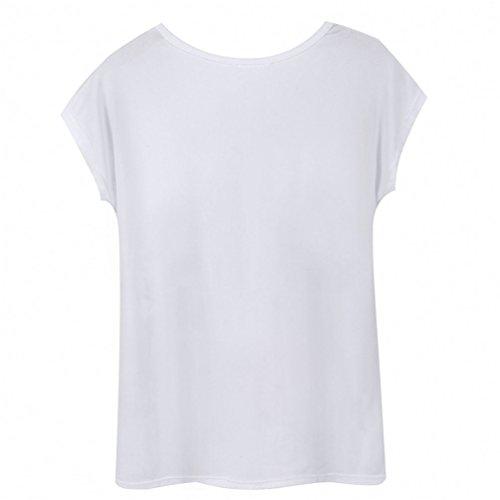 WanYang Donne Ragazze Casuale Girocollo Stampe T-Shirt Estate Cime Maniche Casual Manica Corta T Shirt Top Farfalla