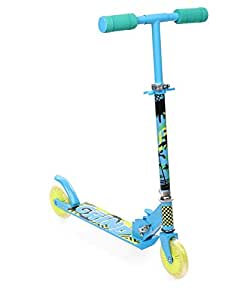Starwalk 2 Wheel Scooter, Blue & Yellow (Blue Grind)